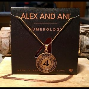 NWT! Alex & Ani Number 4 Charm Adjustable Necklace